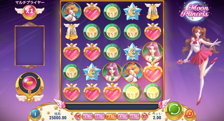 Play'nGO社のスロット『Moon Princess』