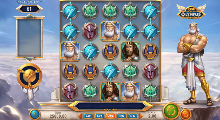 Play'nGO社のスロット『Rise Of OLYMPUS』