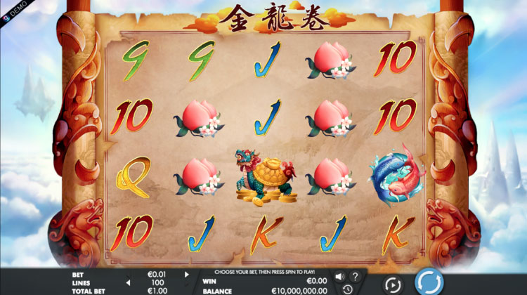 Genesis社のスロット『Dragon Scroll XL』