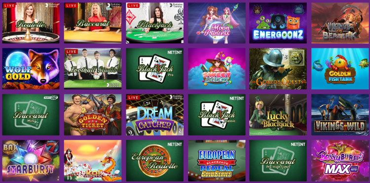LuckyCasino(ラッキーカジノ)の主なゲーム