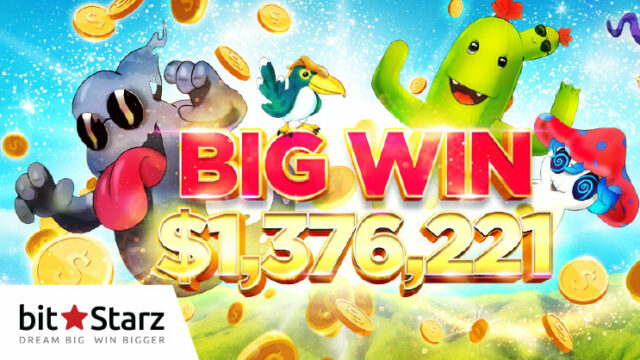 bitstarz(ビットスターズ)のスロット『SLOTO MON GO』で1億5,248万円のBIGWINが炸裂!