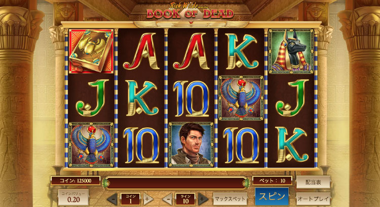 Play'nGO社のスロット『BOOK OF DEAD』