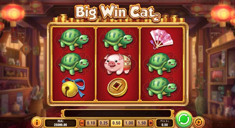 Play'nGO社のスロット『BigWinCat』