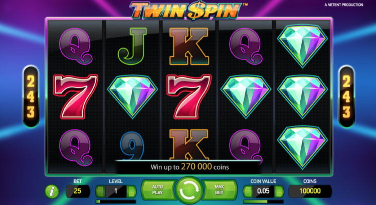 NETENT社のスロット『TWIN SPIN』