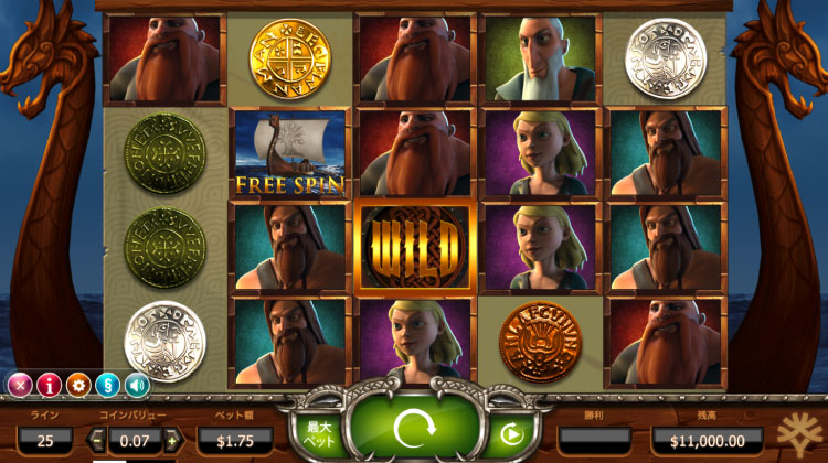 Yggdrasil社のスロット『Vikings Go Wild』