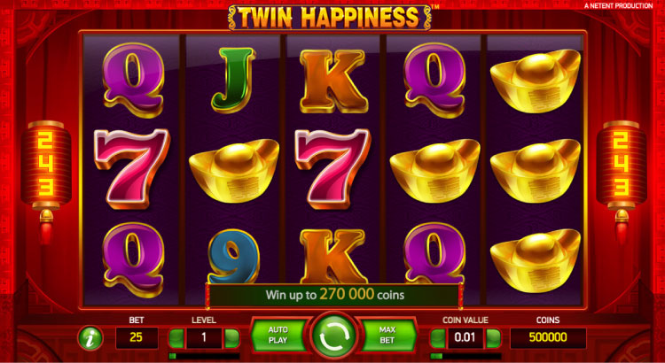 NETENT社のスロット『Twin Happiness』