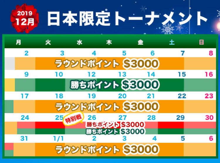 賞金総額18,000!ベラジョンカジノ(Vera&John)のカウントダウンカップ(2019年12月2日〜2020年1月6日)