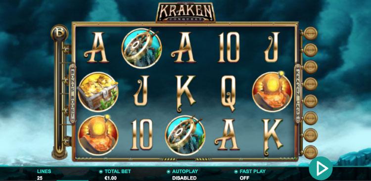 LeanderGames社のスロット『KrakenConquest』