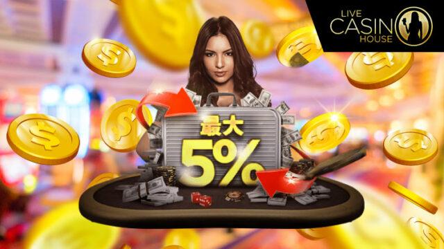 ライブカジノハウス(LiveCasinoHouse)のカジノチェジュ限定キックバック(2020年1月20日〜23日)