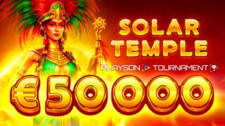 カジ旅のスロット『SolarTemple』対象!総額€50,000トーナメント(2020年4月3日〜4月13日)