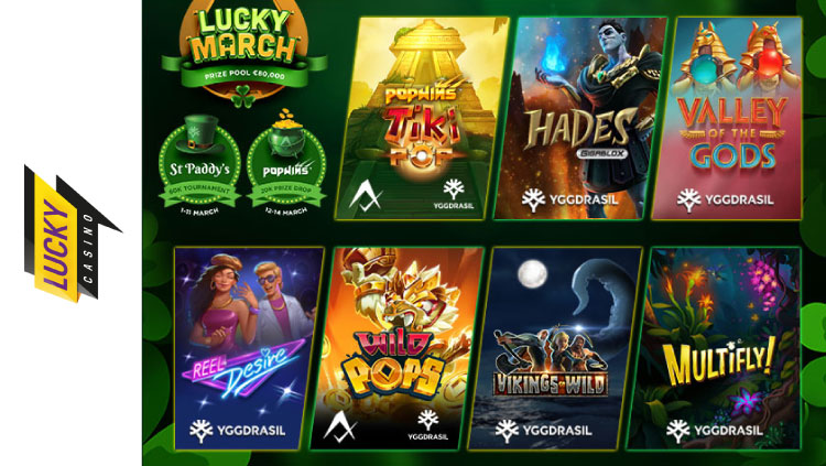 ラッキーカジノ(LuckyCasino)のYggdrasil対象キャンペーン(2021年3月1日〜15日)